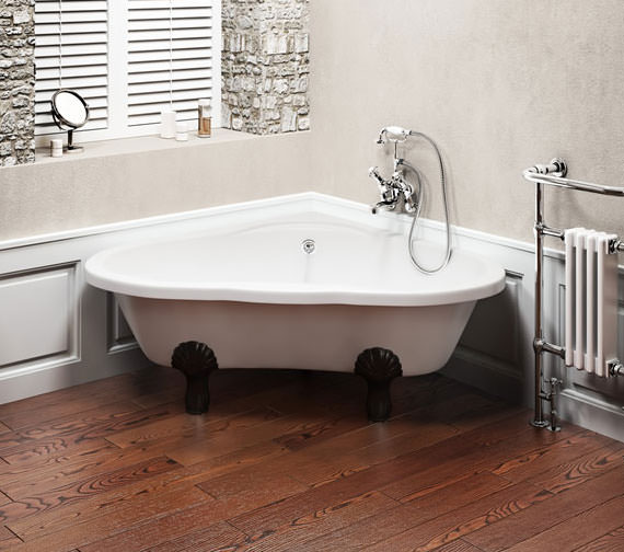 Alternate image of Burlington Heart Corner Bath 1630 x 1330mm