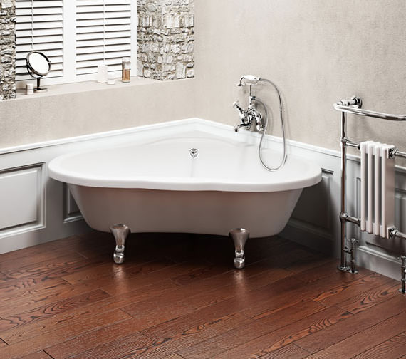 Burlington Corner Sink : Alternate image of Burlington Heart Corner Bath 1630 x 1330mm