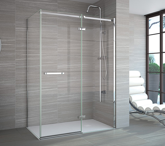 Additional image of Merlyn 8 Series Frameless Hinge And Inline Shower Door 900mm Plus