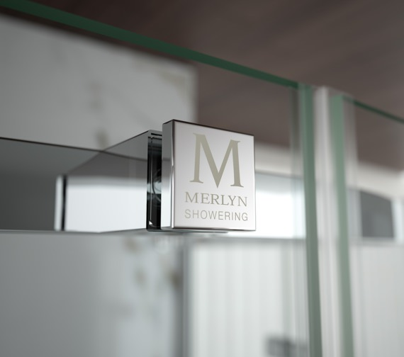 Alternate image of Merlyn 8 Series Recess Frameless Hinge And Inline Door 1100mm