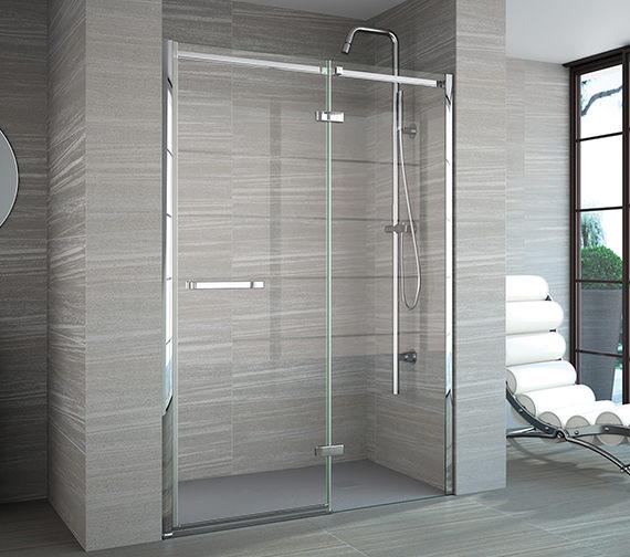 Merlyn 8 Series Frameless Hinge And Inline Shower Door 900mm Plus