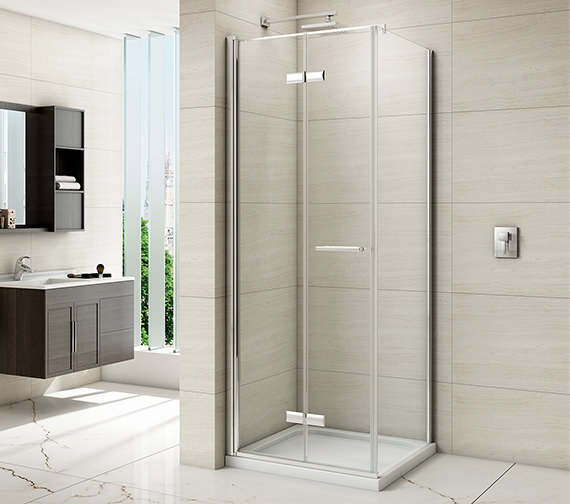 Merlyn 8 Series Frame-less  Hinged Bifold Shower Door