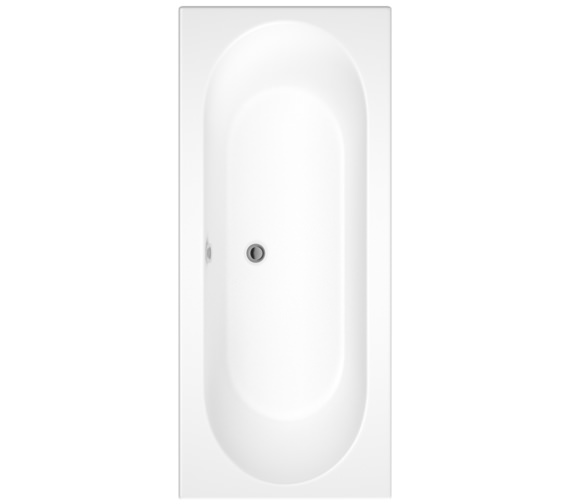 Pura Curve 1800 x 800mm Double Ended Bath
