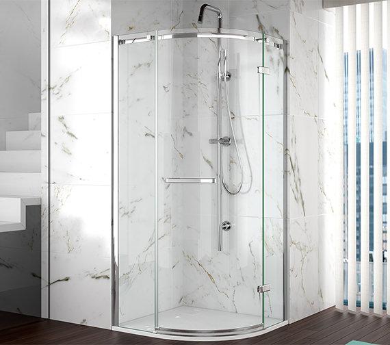 Merlyn 8 Series Frameless 1 Door Shower Quadrant 900mm