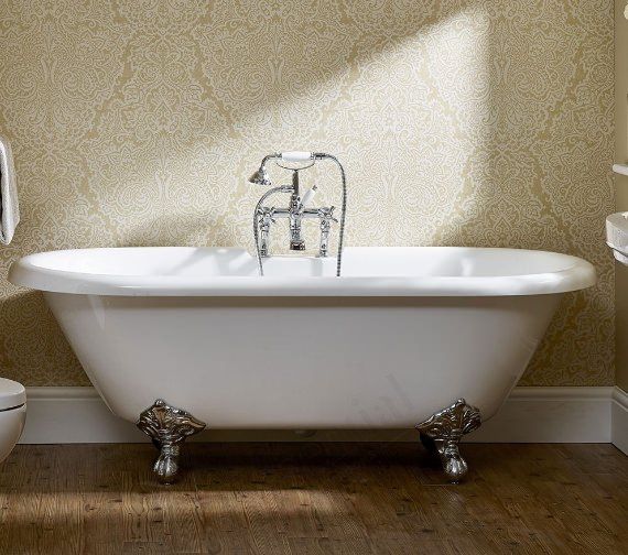 Essential Traditional Roll Top Freestanding Double Ended Bath 1700 x 800mm