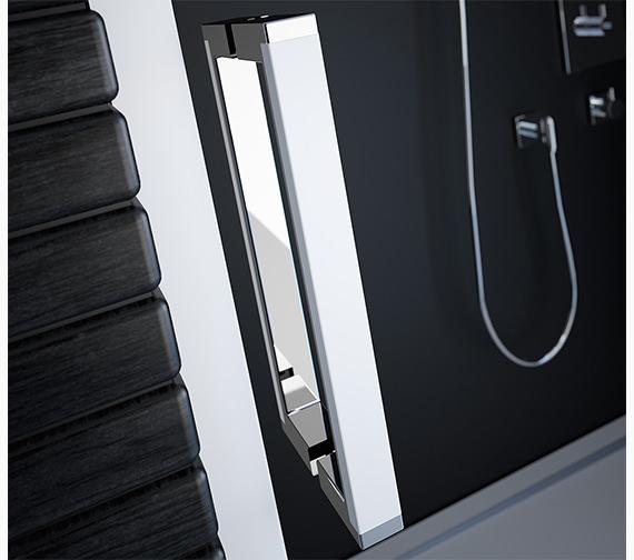 Alternate image of Merlyn 8 Series Matt White Sliding Door 1400mm