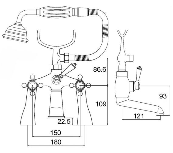 Technical drawing QS-V22503 / BEO-2045
