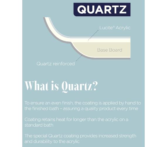 Additional image of Essential Bromley Quartz Rectangular Single Ended Bath