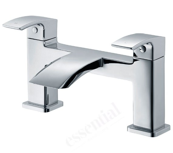 Essential Crest Deck Mounted Bath Filler Tap Chrome