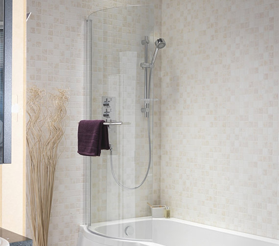 Pura Curve Left Or Right Hand Universal Shower Bath Screen