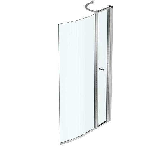 Ideal Standard Concept Air 872-892 x 1414mm Curved Shower Bath Screen
