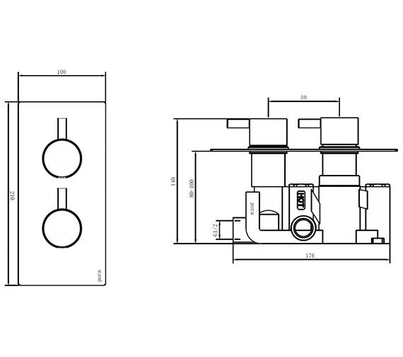 Technical drawing QS-V80289 / 6001