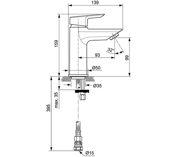 Technical drawing QS-V80121 / A6587AA