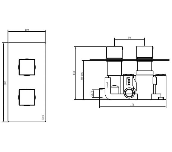 Technical drawing QS-V80288 / BQCVPK002