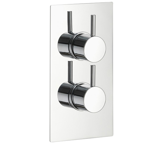 Pura Arco Single Outlet Dual Control Concealed Thermostatic Shower Valve