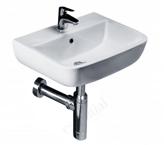 Essential Orchid Wall Hung Basin With 1 Tap Hole - 400mm