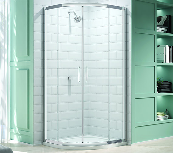 Merlyn 8 Series 2 Door Shower Quadrant With MStone Tray 1000 x 1000mm