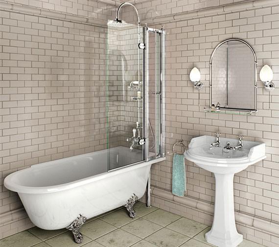 Burlington Hampton 1700 x 750mm Right Hand Freestanding Bath