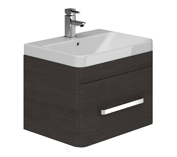 Essential Vermont Dark Grey Wall Hung Vanity Unit And Basin - 800mm