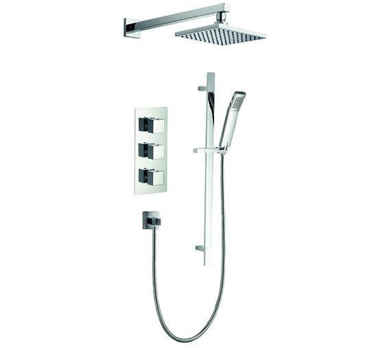 Pura Bloque2 Triple Thermostatic Valve With Head And Slide Rail Kit