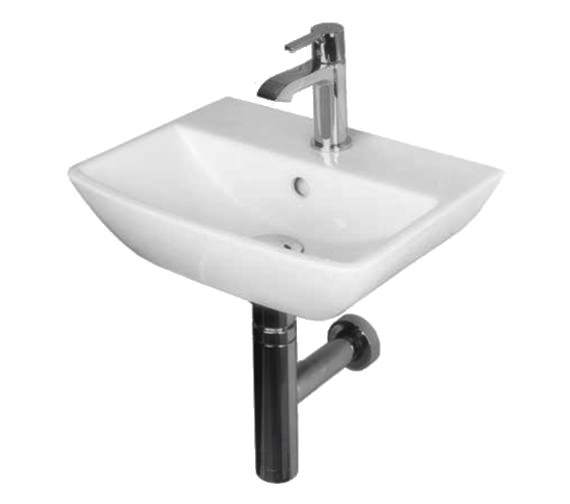 ... hung essential jasmine 400mm wall hung handrinse basin with 1 tap hole