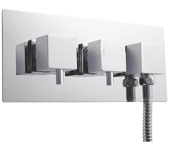 Premier Volt Twin Thermostatic Valve With Diverter And Built-in Outlet