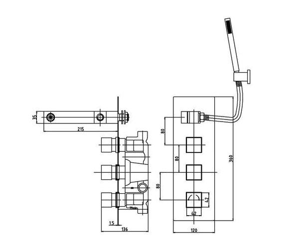 Technical drawing QS-V10902 / A3077
