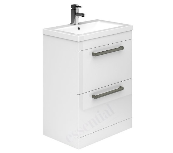 Essential Nevada 2 Drawer Vanity Unit And Basin - 600mm