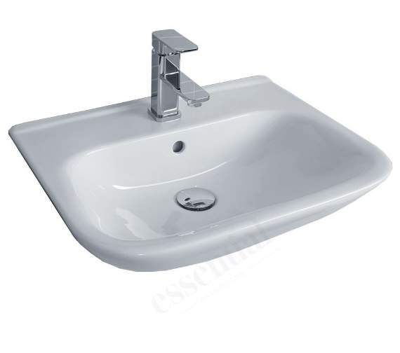 Essential Violet Minimalist Semi-Recessed Basin 520mm - With 1 Tap Hole