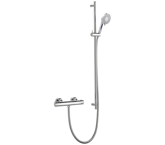 Pura Arco Exposed Thermostatic Bar Valve With Levo Slide Rail And Essence Kit