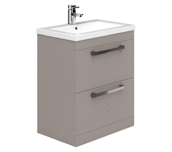 Alternate image of Essential Nevada 800mm 2 Drawers Vanity Unit And Basin - EFP303WH