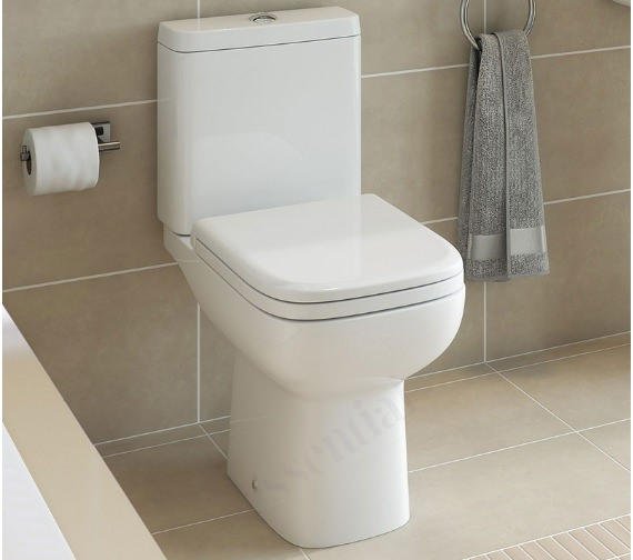 Essential Violet Close Coupled WC With Cistern And Soft Close Seat