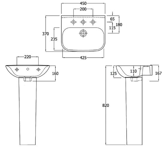 Technical drawing QS-V83812 / EC6001