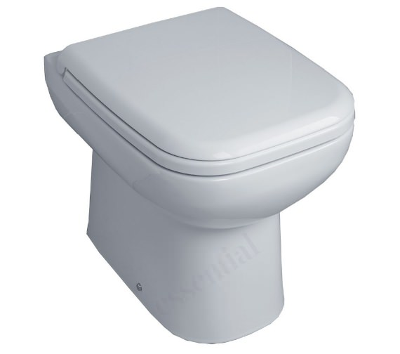 Essential Violet Back To Wall WC Pan With Soft Close Seat