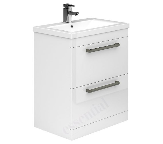 Essential Nevada 800mm 2 Drawers Vanity Unit And Basin - EFP303WH