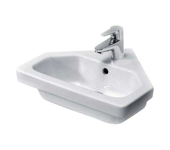 Essential IVY 450mm Corner Basin With 1 Tap Hole
