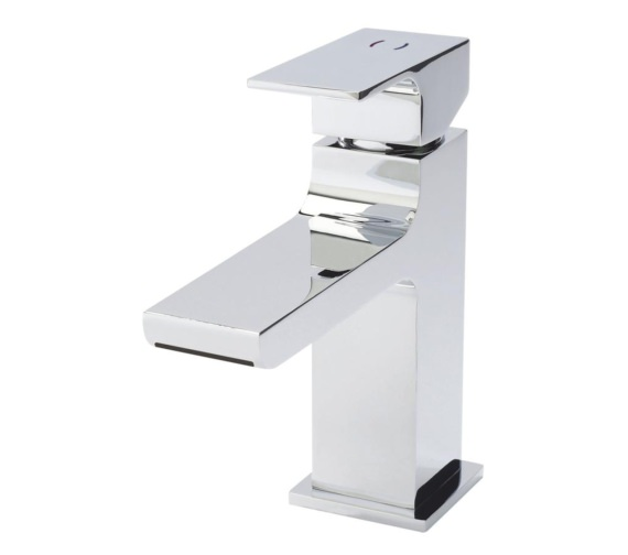Beo Prospect Chrome Waterfall Spout Mono Basin Mixer Tap With Waste