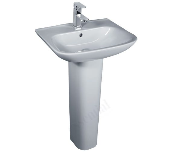 Additional image of Essential Violet 450mm Wide Basin With 1 Tap Hole