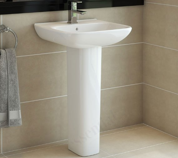 Essential Violet 450mm Wide Basin With 1 Tap Hole