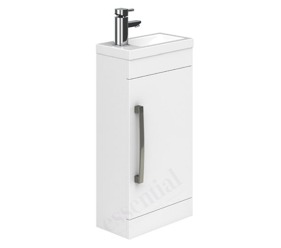 Additional image of Essential Nevada 400mm Wide Single Door Vanity Unit And Basin