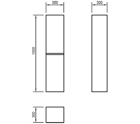 Technical drawing QS-V82236 / XC150TSCDO