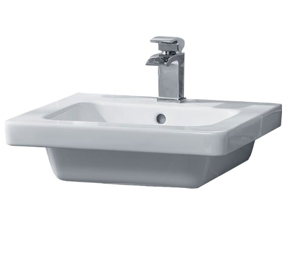 Essential IVY 500mm Wide Basin With 1 Tap Hole
