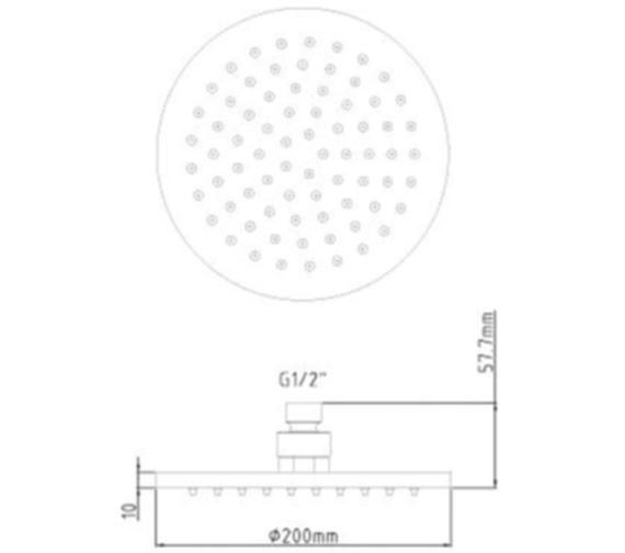 Technical drawing QS-V9100 / STY069