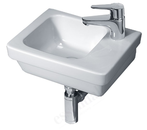 Essential IVY 360mm Slimline Wall Mounted Basin With 1 RH Tap Hole