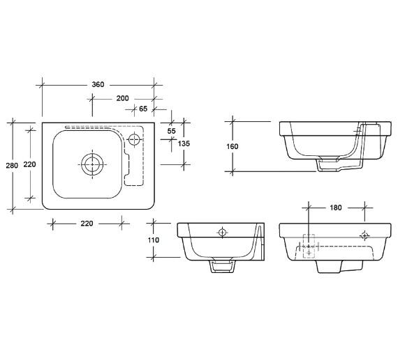Technical drawing QS-V83822 / EC7009