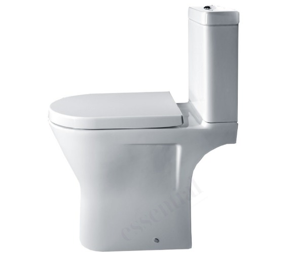 Essential IVY Comfort Height Close Coupled WC Pan With Cistern And Seat