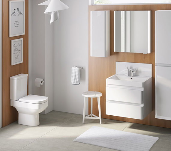 Alternate image of IMEX Flite Wall Hung Double Drawer Unit And Basin 600mm