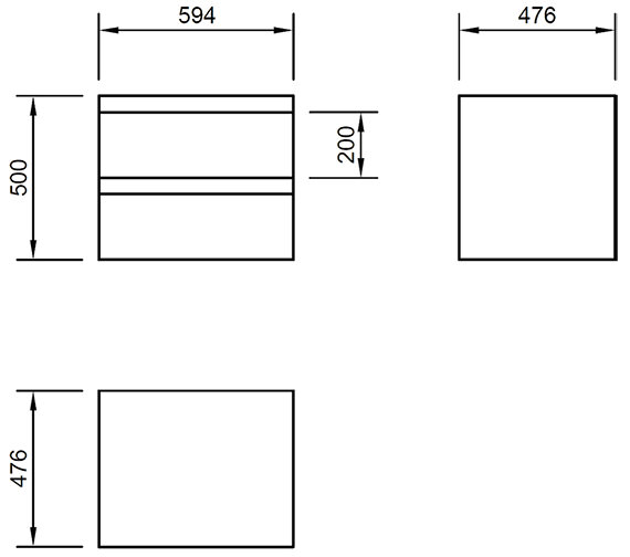 Technical drawing QS-V82222 / FL60DDWMC