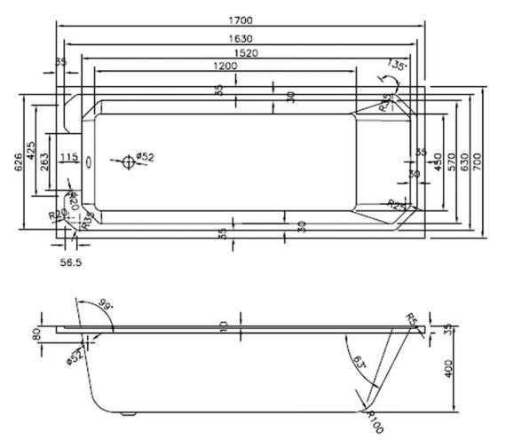 Technical drawing QS-V23451 / BEO-2114