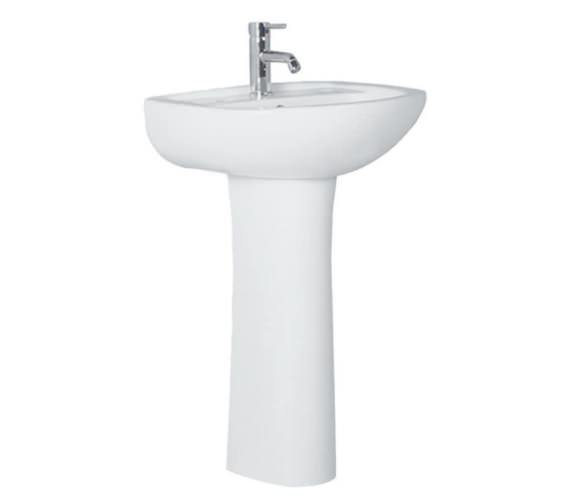 Aqva Dorro Elegant 500mm Washbasin And Pedestal
